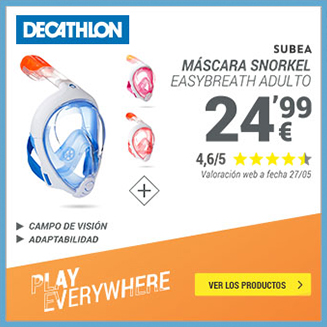 Decathlon máscaras